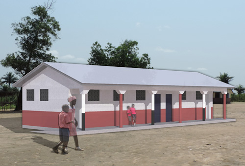 The David School, Sierra Leonne - WC Block Visualisation